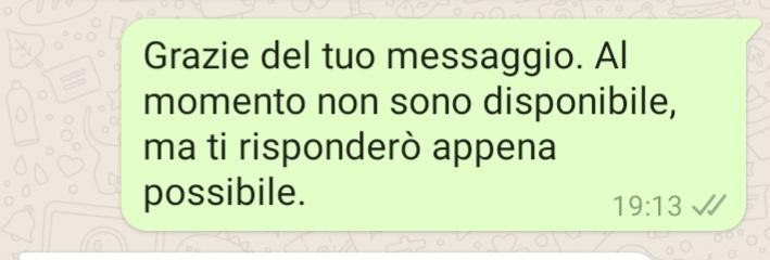 messaggio di assenza su whatsapp business